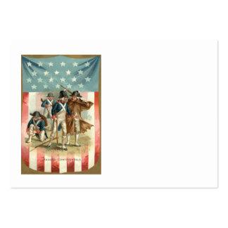 Ejército continental del escudo de la bandera de tarjetas de visita grandes