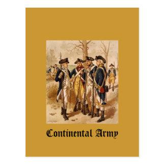 Ejército continental postales