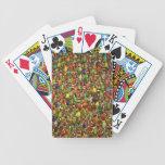 Ejército de escarabajos y de insectos baraja cartas de poker