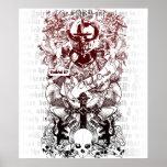 Ejército de Ezekiel 37 de lona de los huesos Poster