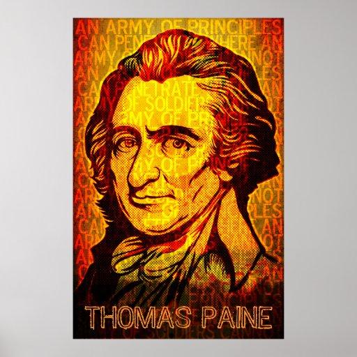 Ejército de impresión de Thomas Paine de los princ Póster