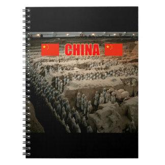 Ejército de la terracota de CHINA Libretas Espirales