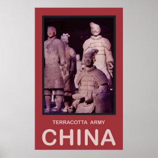 Ejército de la terracota de China Poster