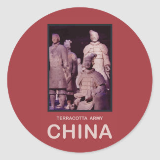 Ejército de la terracota de China Etiquetas Redondas