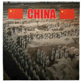 Ejército de la terracota de CHINA Servilletas Imprimidas