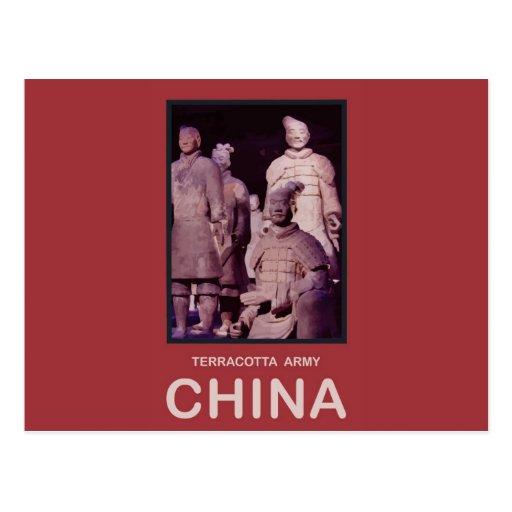 Ejército de la terracota de China Tarjetas Postales