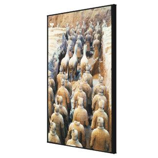 Ejército de la terracota dinastía de Qin 210 A C Impresion De Lienzo