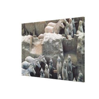 Ejército de la terracota dinastía de Qin 210 A C Lienzo Envuelto Para Galerías