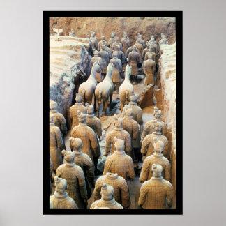 Ejército de la terracota, dinastía de Qin, 210 A.C Impresiones