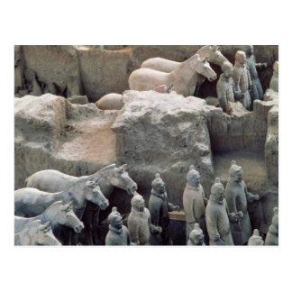 Ejército de la terracota, dinastía de Qin, 210 Postal