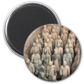 Ejército de la terracota imán redondo 5 cm