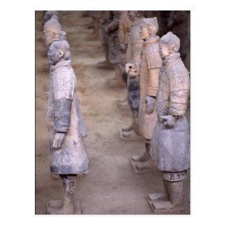 Ejército de la terracota, Xian, China, postal