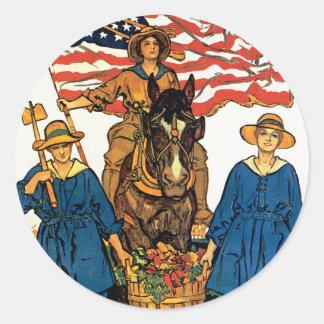 Ejército de la tierra de las mujeres pegatina redonda