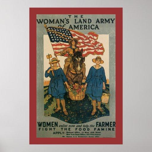 Ejército de la tierra de las mujeres póster