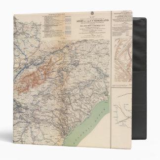 """Ejército de las campañas del Cumberland Carpeta 1 1/2"""""""