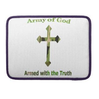 Ejército de productos del cristiano de dios funda para macbooks