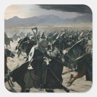 Ejército de Rohan Pegatina Cuadrada