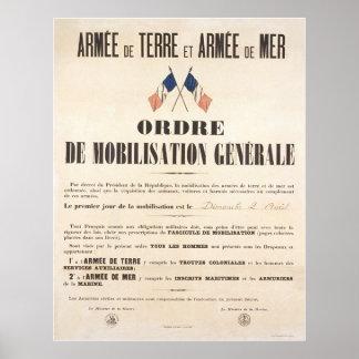 Ejército de Tierra y Marina francés.  Orden de la  Impresiones