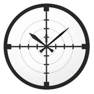 ejército del arma del arma del símbolo de la blanc reloj redondo grande
