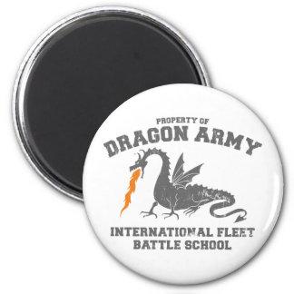 ejército del dragón del ender imán redondo 5 cm
