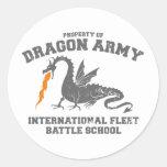 ejército del dragón del ender pegatina redonda