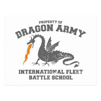 ejército del dragón del ender tarjetas postales