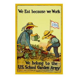 Ejército del jardín de la escuela - impresión impresiones