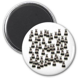Ejército del oso imán redondo 5 cm