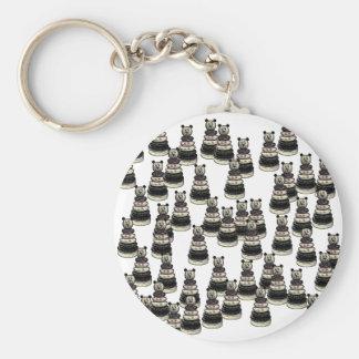 Ejército del oso llavero redondo tipo pin
