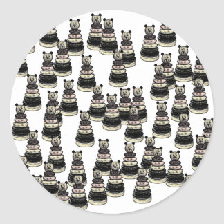 Ejército del oso pegatina redonda