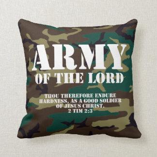 Ejército del señor, escritura Camo de la biblia Cojín Decorativo