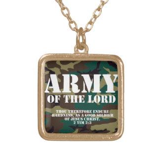 Ejército del señor, escritura Camo de la biblia Colgante Cuadrado