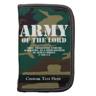 Ejército del señor, escritura Camo de la biblia Planificadores