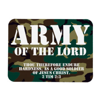 Ejército del señor, escritura Camo de la biblia Iman De Vinilo
