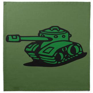 ejército del tanque servilleta de papel