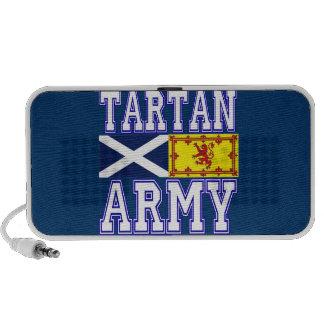 Ejército del tartán notebook altavoz