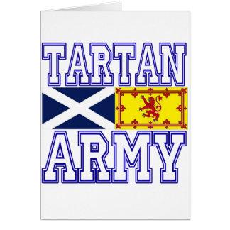 Ejército del tartán tarjeton