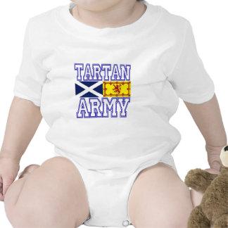 Ejército del tartán trajes de bebé