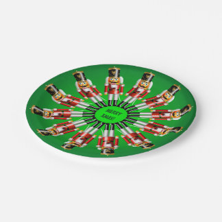 Ejército divertido de soldados del cascanueces del platos de papel