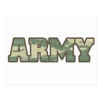Ejército en camo tarjeta postal