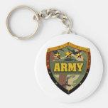 Ejército Llavero Redondo Tipo Pin