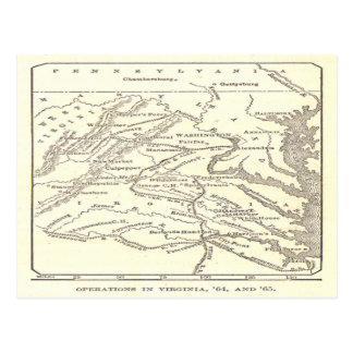 Ejército magnífico de la postal de Potomac