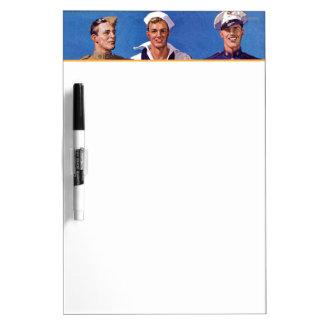 Ejército, marina de guerra y infantes de marina tablero blanco