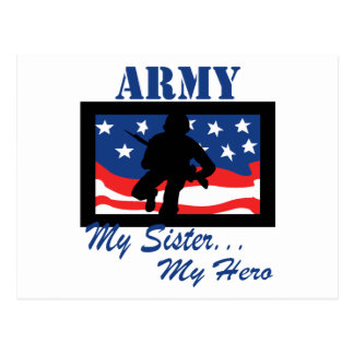 Ejército mi hermana mi héroe postal
