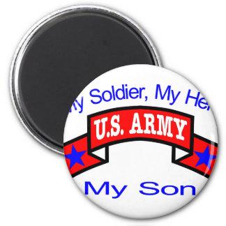 Ejército mi hijo del héroe del soldado imán de frigorífico