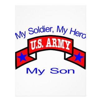 Ejército mi hijo del héroe del soldado membrete