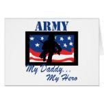 Ejército mi papá mi héroe tarjetas