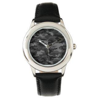 Ejército negro impresionante No6 Reloj