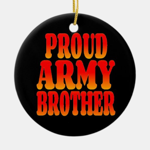 Ejército orgulloso Brother en colores alegres Ornamento De Reyes Magos