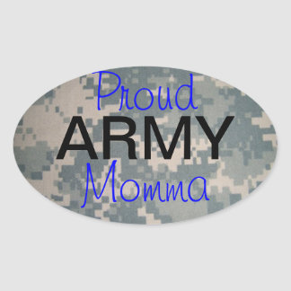 Ejército orgulloso Momma (oval) Pegatina Ovalada